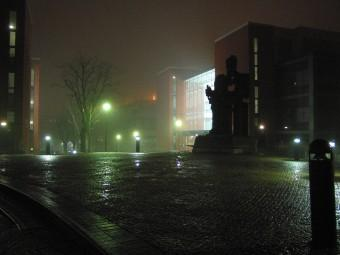 A night's scene at the University of Birmingham
